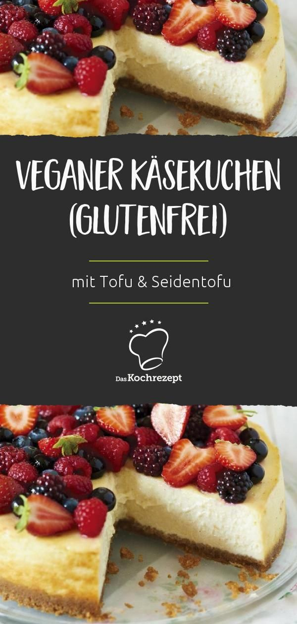 Photo of Veganer Käsekuchen (glutenfrei)
