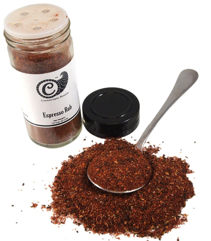 Espresso rub real espresso coffee infused marinade and