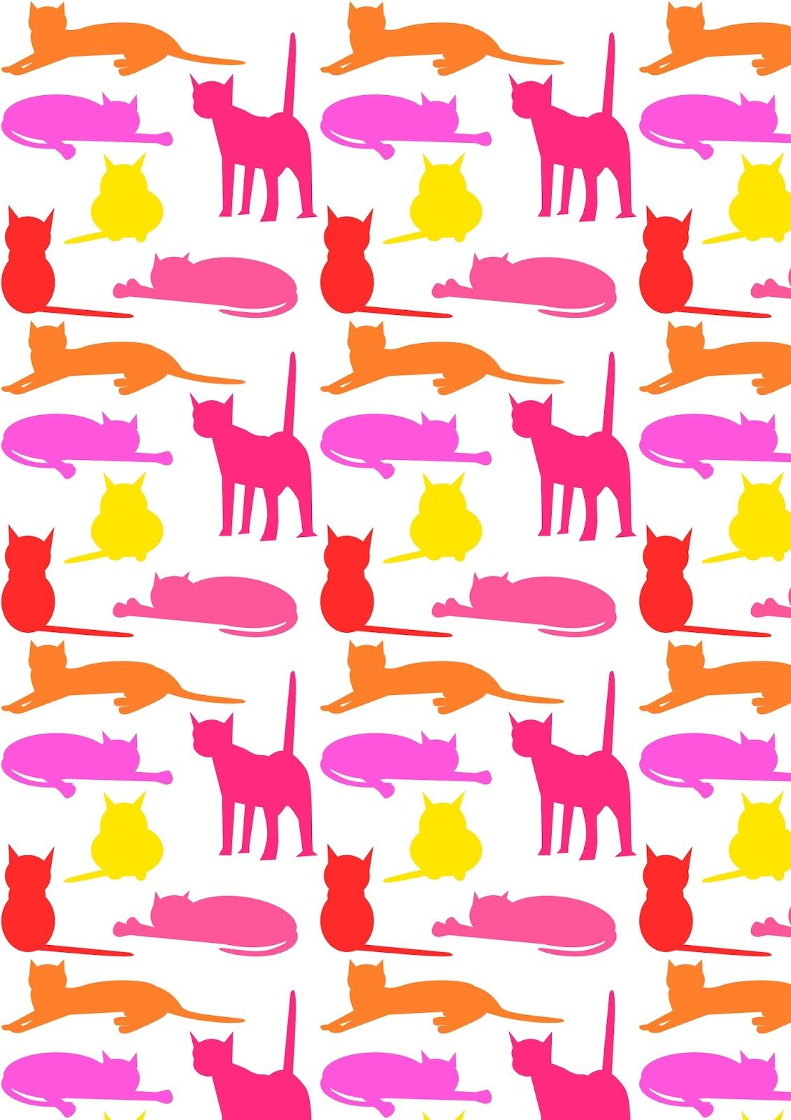FREE printable cat pattern paper | catalogers
