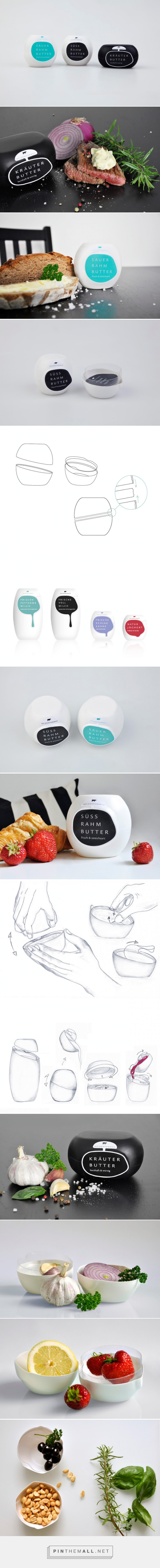 The Butterbowl #Butter #Student #Concept #Packaging designed by Alexandra Matthies & Nicole Plock - http://www.packagingoftheworld.com/2015/07/the-butterbowl-student-project.html