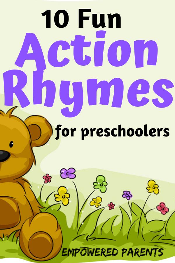 10 Action Songs For Preschoolers