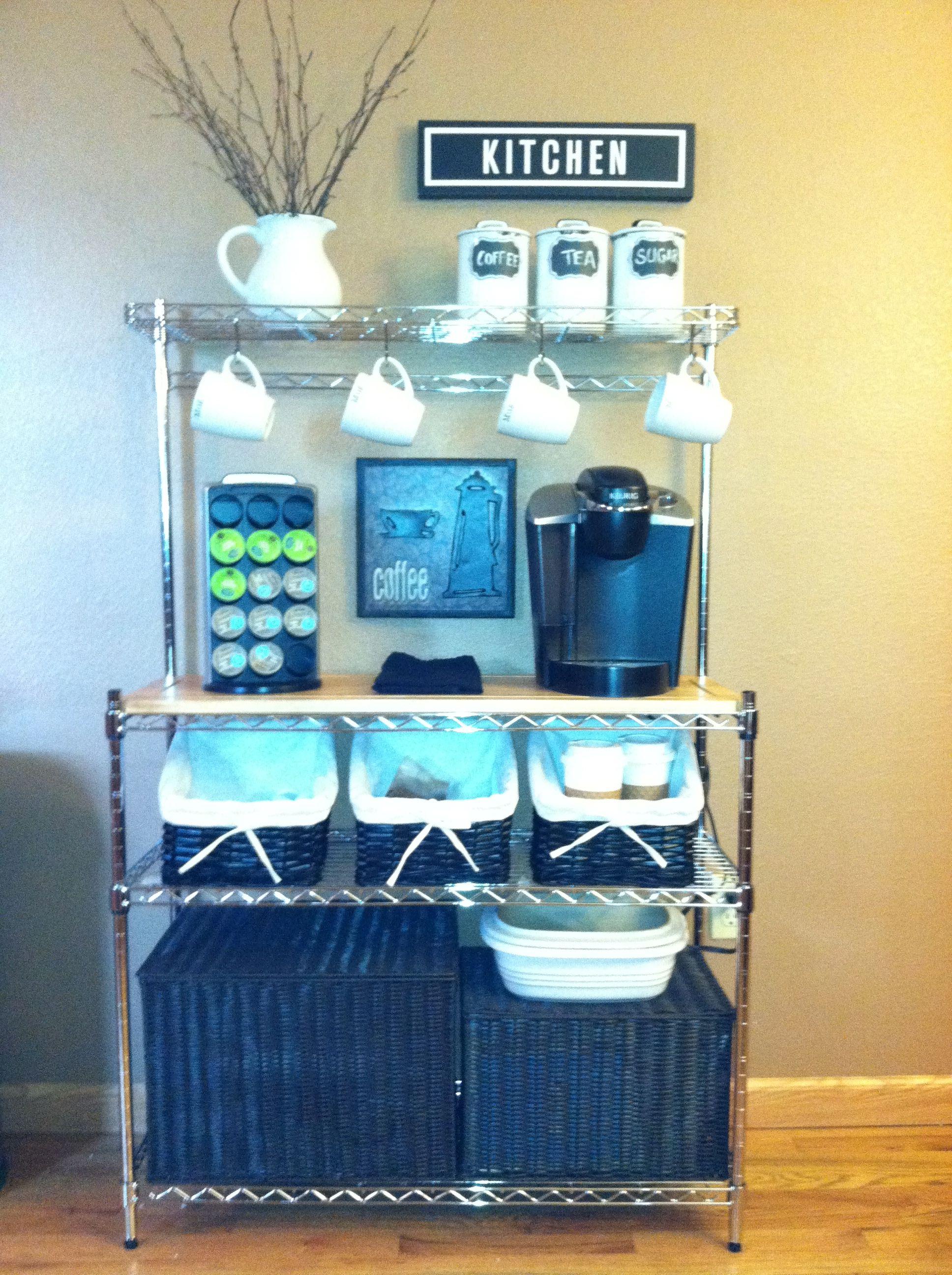 Coffee Bar Diy Bakers Rack Diy Coffee Station Office Coffee Bar