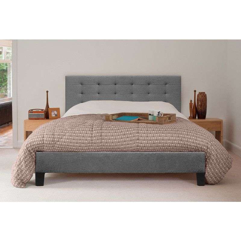 Kensington Double Size Fabric Bed Frame in Grey | Bed frames, Buy ...