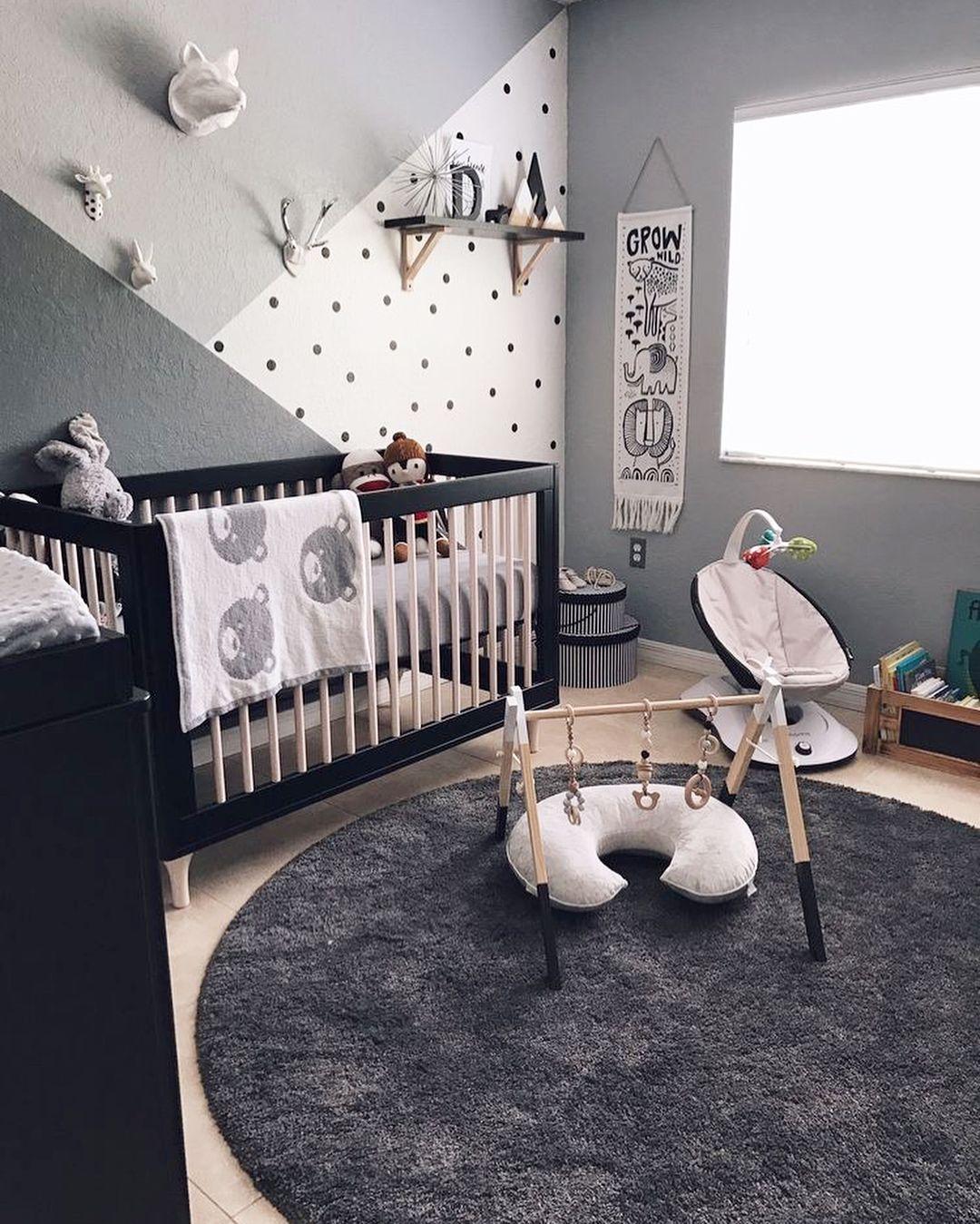 Pilih Warna Kamar Untuk Si Kecil Tidak Melulu Terbatas Dengan Pilihan Warna Warna Pastel Kombinasi Warna Abu Abu Juga Ruangan Bayi Kamar Bayi Kamar Main Anak