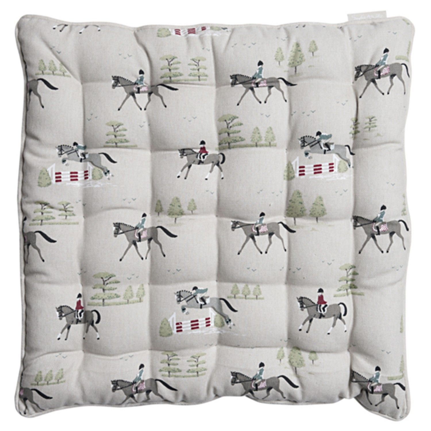 Sophie Allport Horses Chair Pad Chair Pad Cushion Chair Seat Chair Cushion Country Home Country Chair Pads Kitchen Chair Pads Garden Seat Cushions