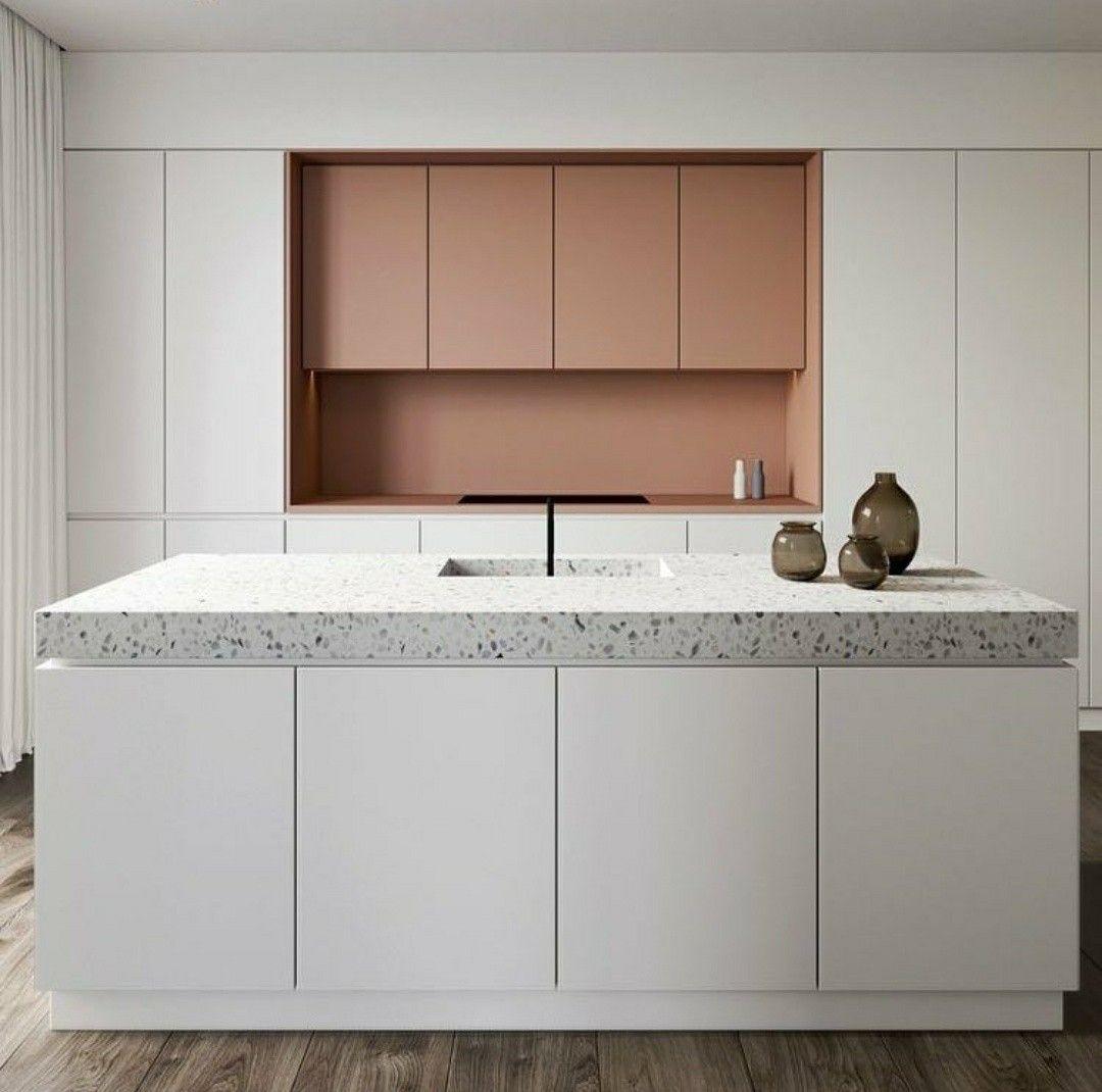 Terrazzo En Roze Nis With Images Countertop Design Interior Design Kitchen Eclectic Kitchen