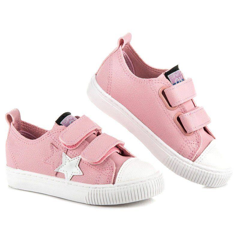Buty Sportowe Dzieciece Dla Dzieci L H Rozowe Tenisowki Na Rzep Z Eko Skory L H Baby Shoes Shoes Fashion