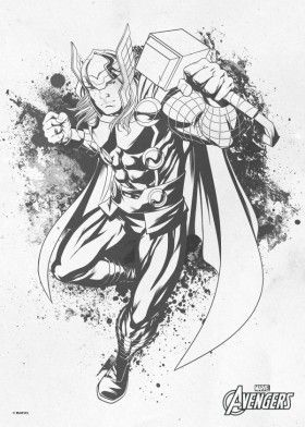 Thor Inksketch Ink Sketch Drawing Avengers Comic Marvel | Lineart Avengers | Pinterest ...