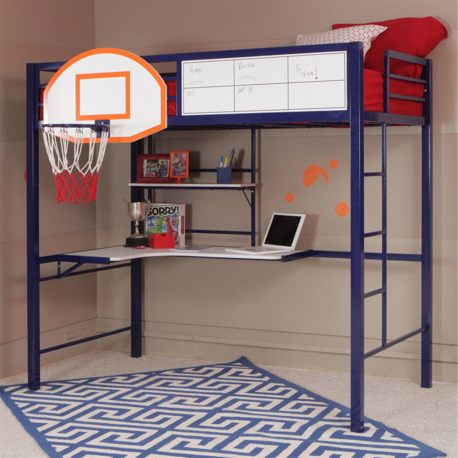 Powell Furniture 14Y2002Bb Hoops Basketball Bunk Bed  Powell Fascinating Basketball Hoop For Bedroom Decorating Inspiration
