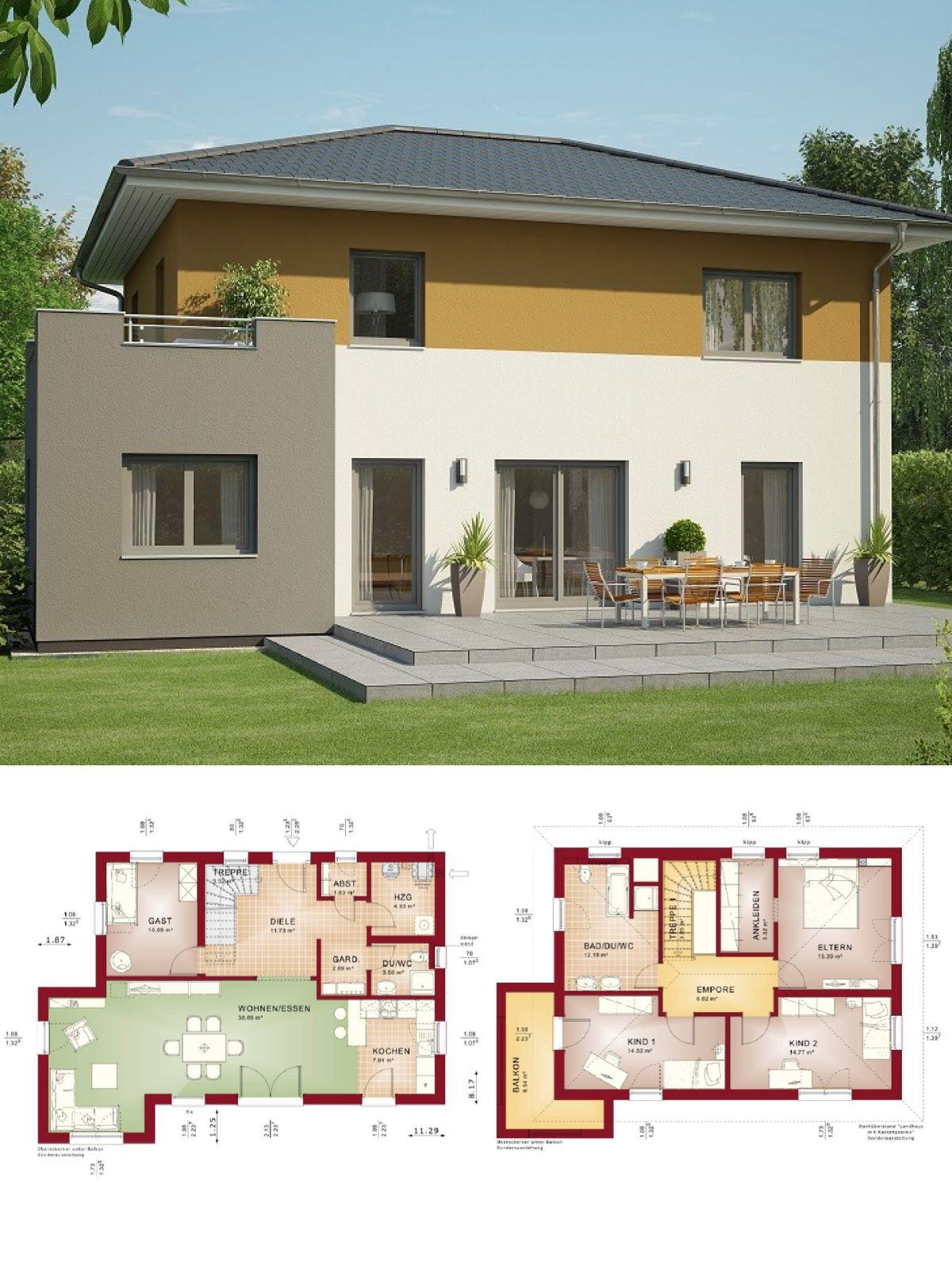 Stadtvilla Neubau Modern Mit Walmdach Architektur Wintergarten