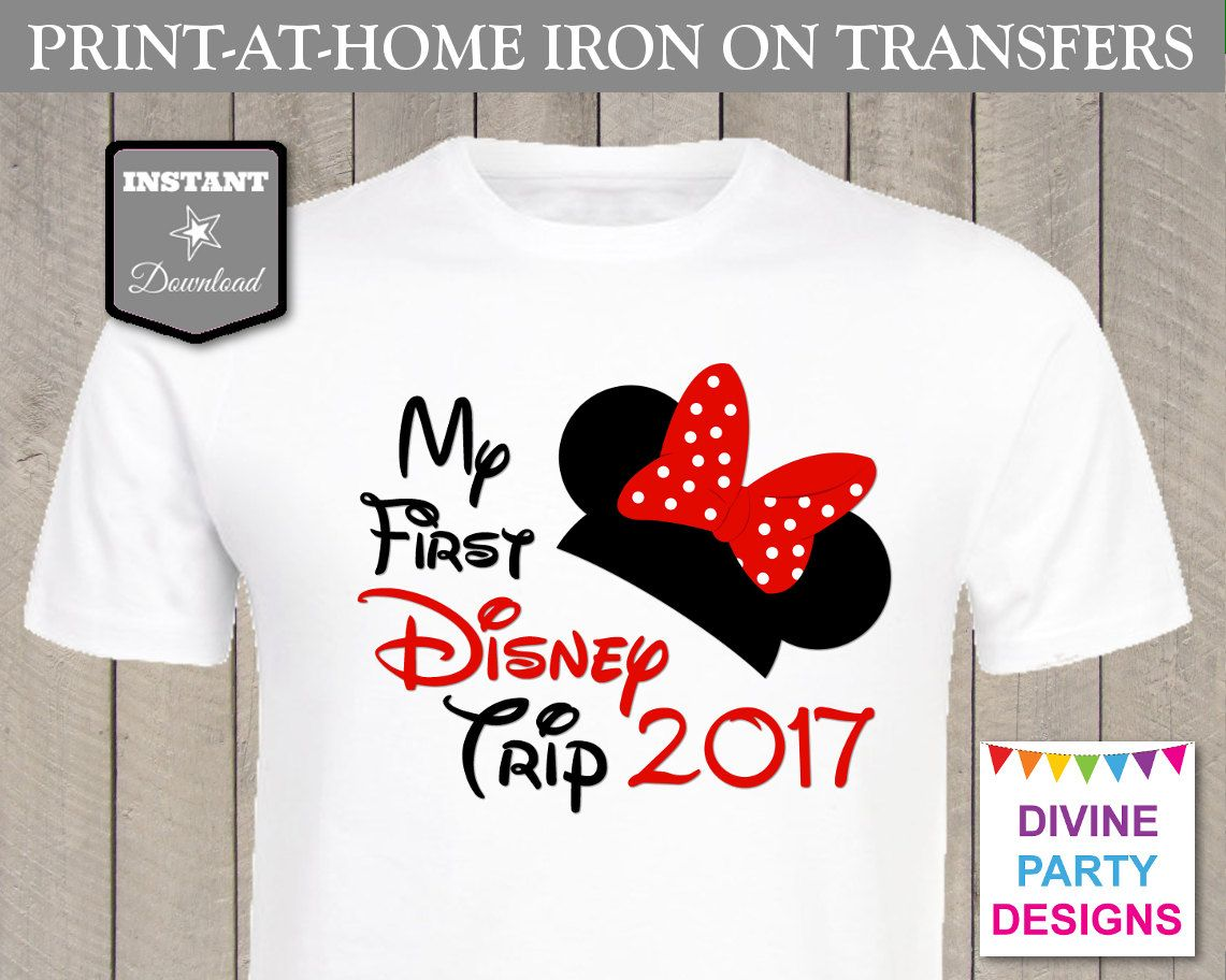 INSTANT DOWNLOAD Print at Home Red Girl Mouse My First Disney Trip ...