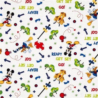 Disney Mickey and Pluto Tree Toss Donald Duck Play Cotton Fabric ...