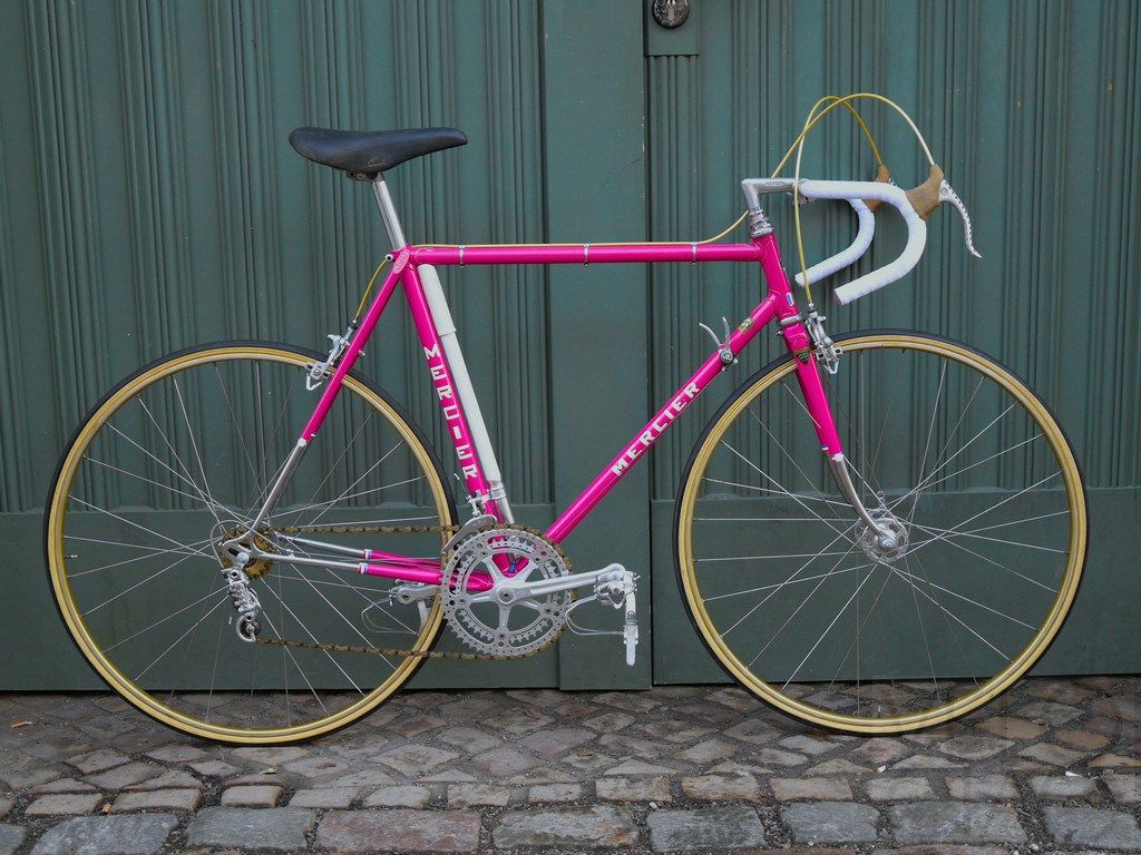 Look jeremy s bicycle rack apartment therapy - An Early Mercier Road Bike Reynolds 531 Tubes And Campagnolo Drop Outs Painted In That Typical Mercier Pink With Golden Lug Lines And Chromed Socks