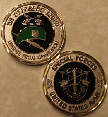 Army Special Forces Green Beret Challenge Coin