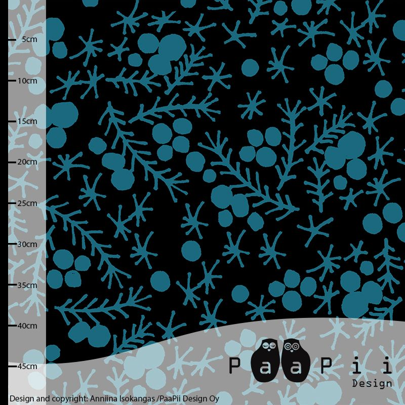 PaaPii Design - Crowberry jacquardneulos, petrol
