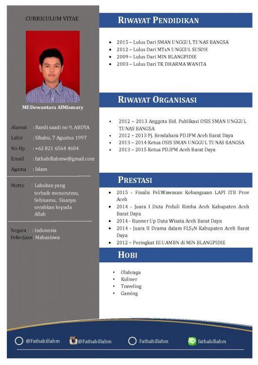 Contoh Cv Fresh Graduate Yang Menarik Creative Cv Template Cv Kreatif Desain Cv