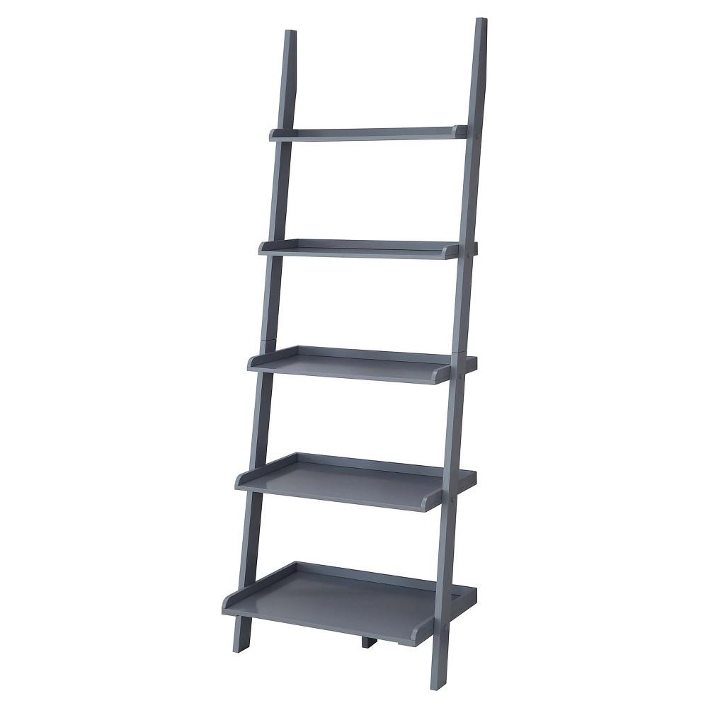 7e8ae57779 American Heritage Bookshelf Ladder - Gray - Convenience Concepts, Grey
