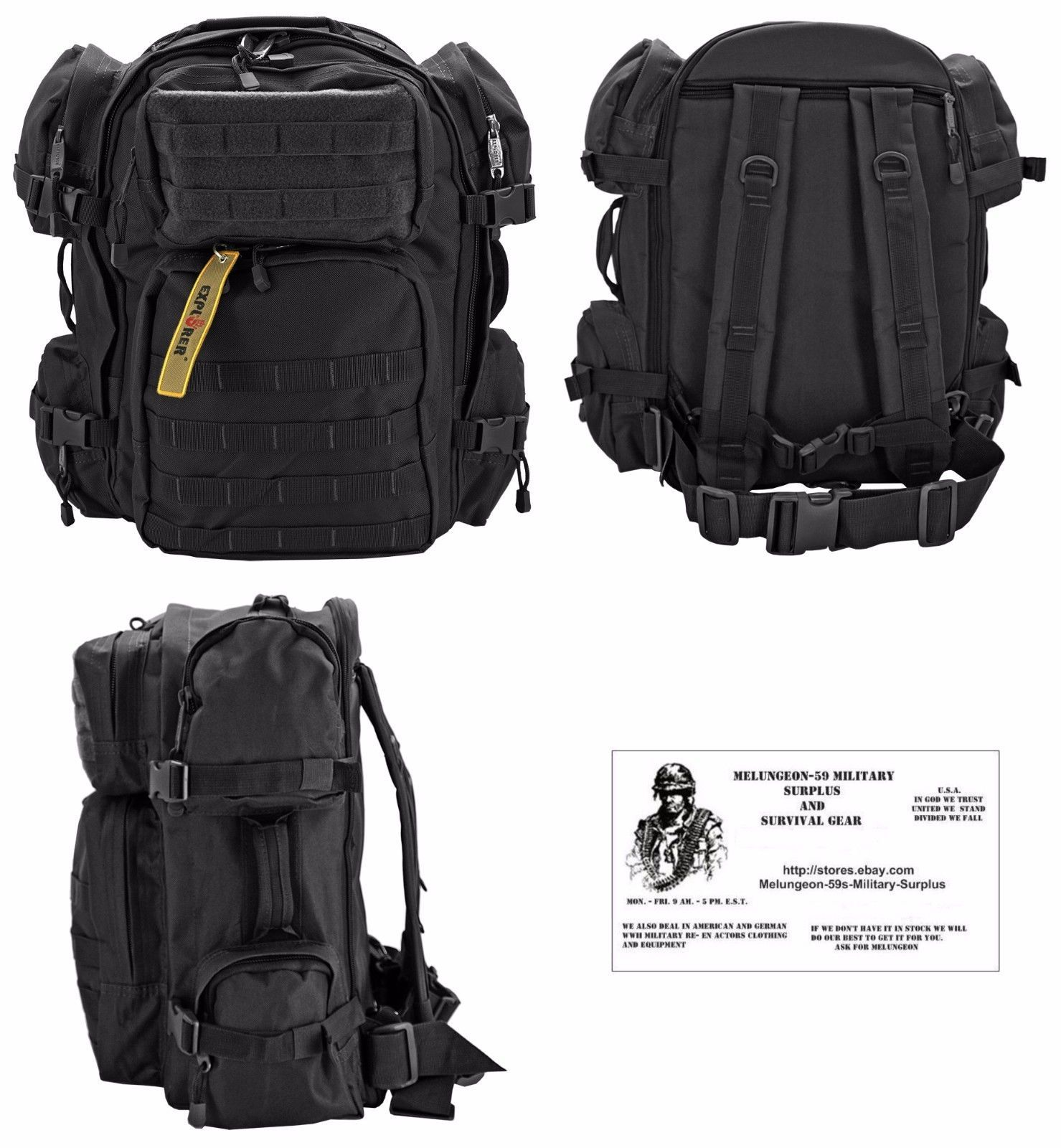 Buy MOLLE - Backpack /Bug Out Bag / Military / Survival Gear ...