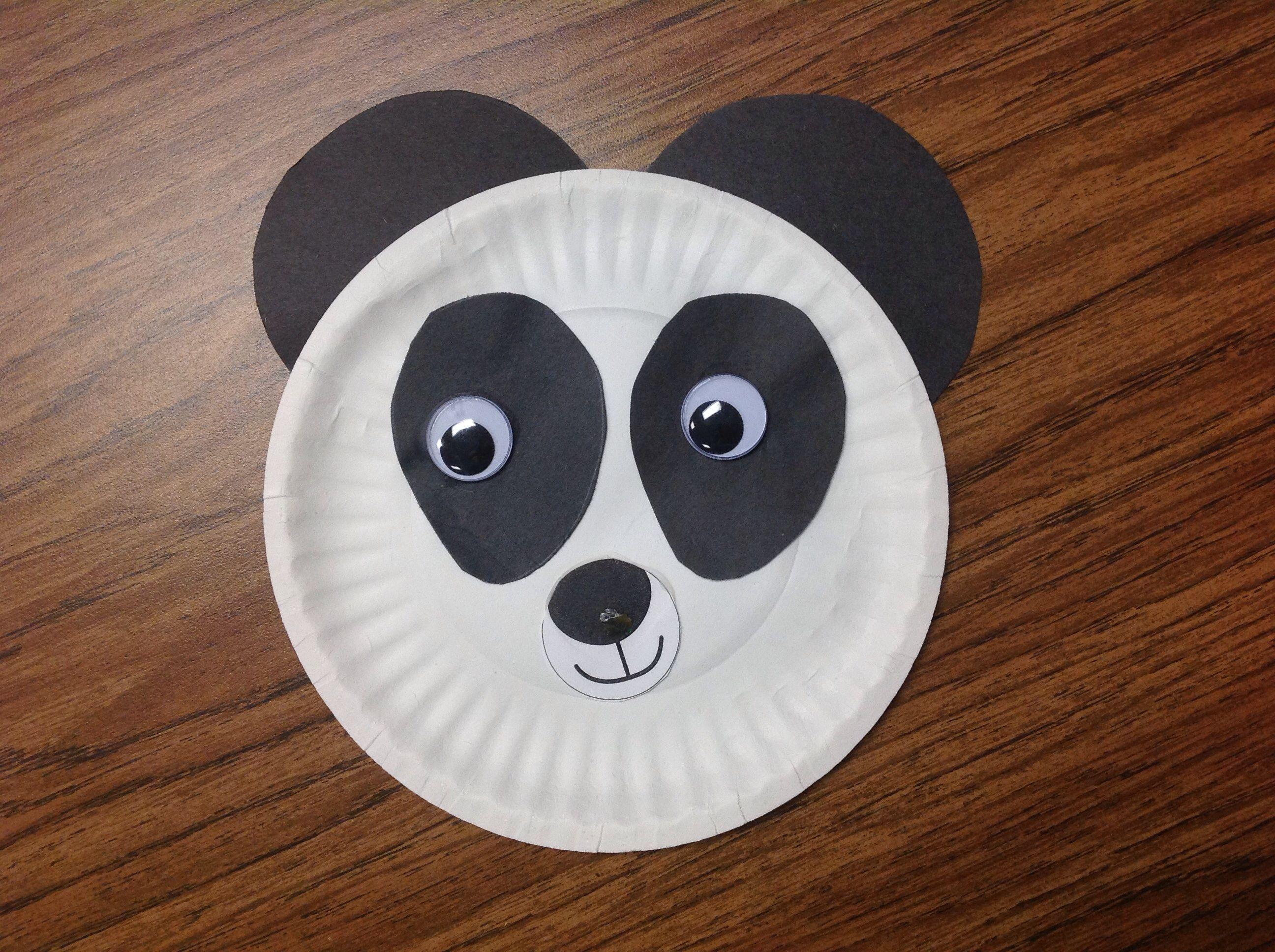 Paper plate panda & Paper plate panda | Classroom projects | Pinterest