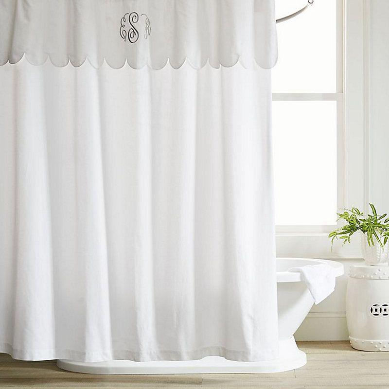 Emma Scalloped Shower Curtain 84 Ballard Designs In 2020