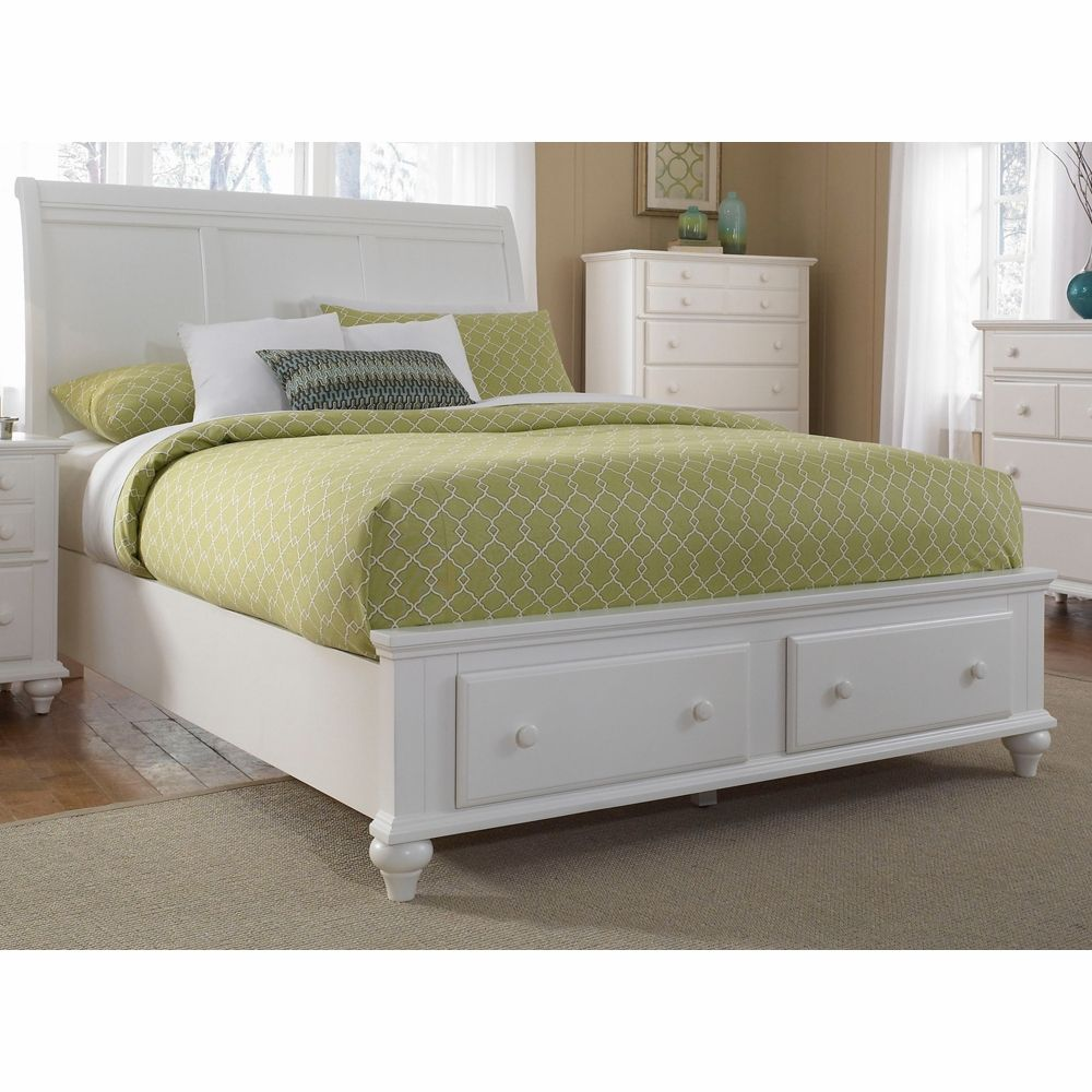 Good Broyhill   Hayden Place Queen Sleigh Bed With Storage Footboard In White