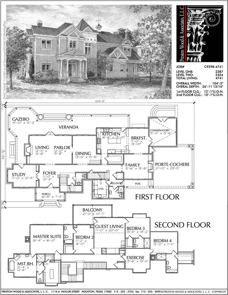 Two Story Victorian Style Home Plan C9298 Victorian House Plans Vintage House Plans Victorian Style Homes