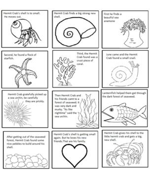 a house for hermit crab by eric carle sequencing text structure rh pinterest com a house for hermit crab worksheets eric carle hermit crab coloring page - Eric Carle Coloring Pages