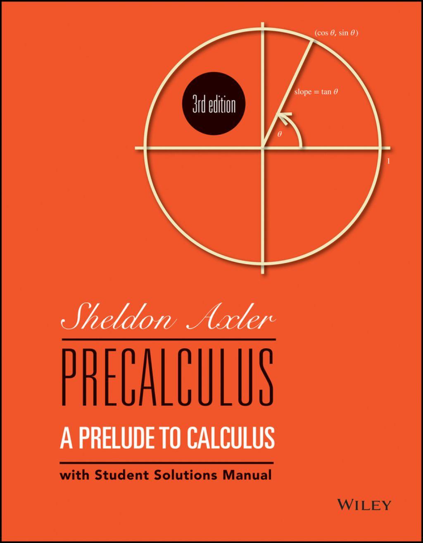 Precalculus A Prelude To Calculus Ebook Rental