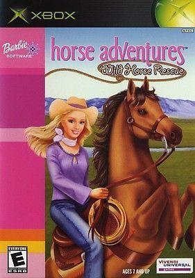 Barbie Horse Adventures Wild Horse Rescue Original Xbox Game