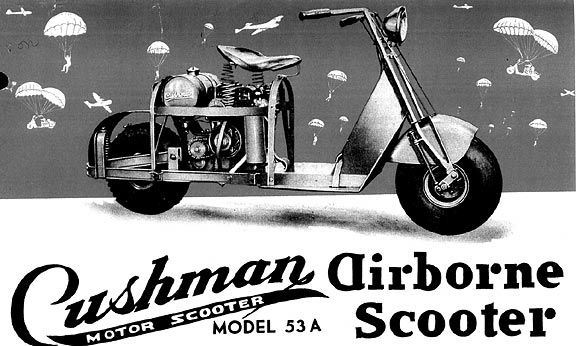 The Cushman Airborne WWII Scooter - Motorcycle Forum