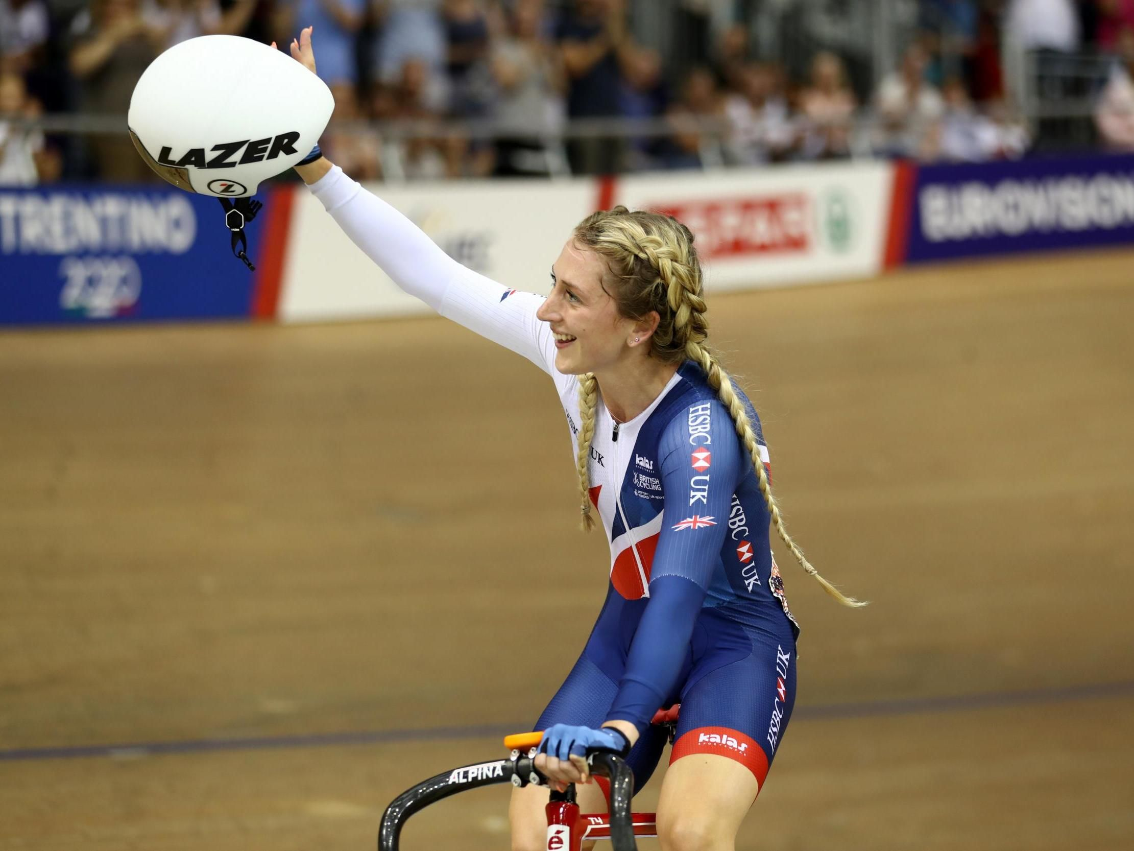 Laura Trott Great Britain Olympic women's cycling member