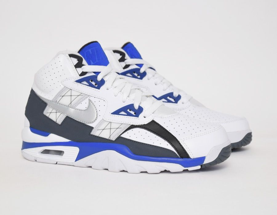 new style 7a156 fcccf ... nike air trainer sc high white blue sneakers