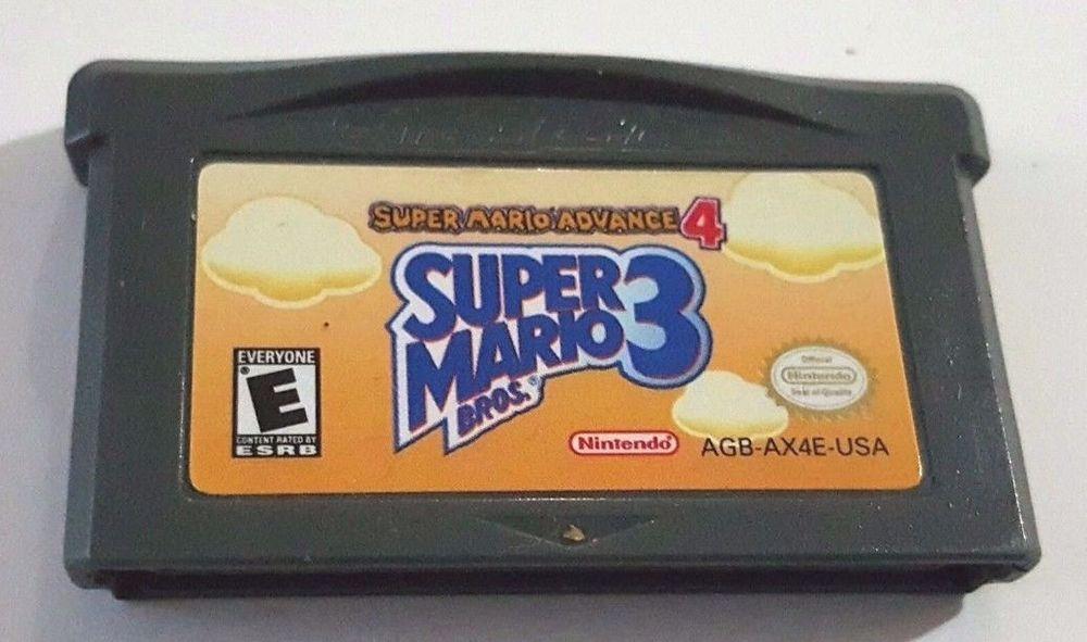 Gameboy Advance Game Gba Sp Ds Dsi Dsl Super Mario Advance 4 Mario