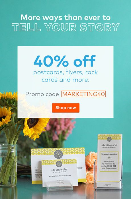 Flyers 40 Off Postcards Flyers With Code Marketing40