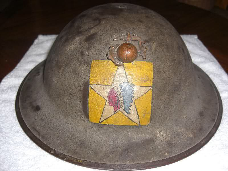 f45598f145a12 A nice example of a WWI Marine Corps helmet. Second Battalion, Fifth Marine  Regiment, Second Army Infantry Division.