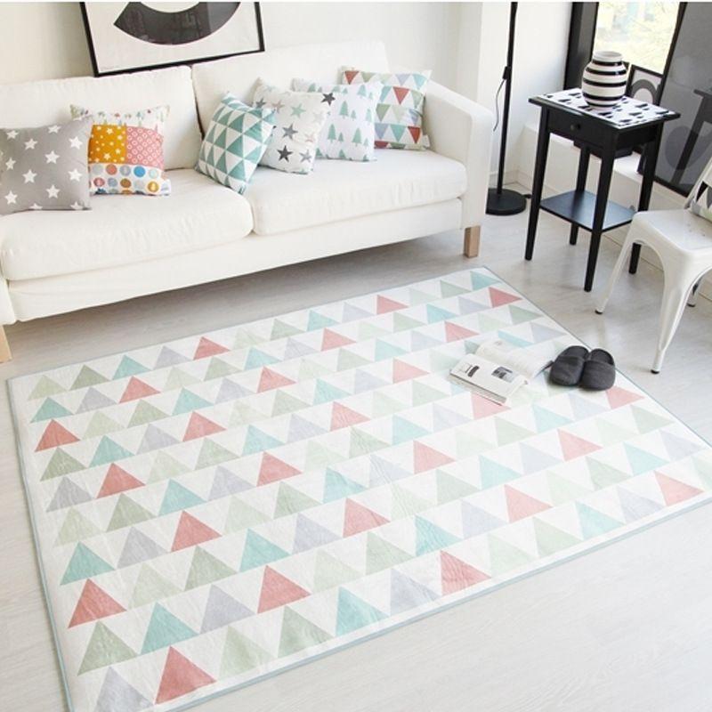 Korean Style Geometric Pattern Carpet Rug Kilim Carpet Living Room Bedroom Rugs And Carpets Non Ski Floor Rugs Bedroom Kilim Carpets Living Room Rugs On Carpet