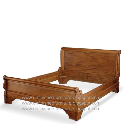 Classic Reproduction Classic Sleigh Bed Low Footboard Made Of