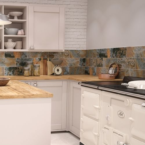 Weathered Rust Tile Ceramic Wall Tile Johnson Tiles Buy Now At Horncastle Tiles For Lowest Uk Prices H Modern Kitchen Tiles Tiles Price Kitchen Wall Tiles