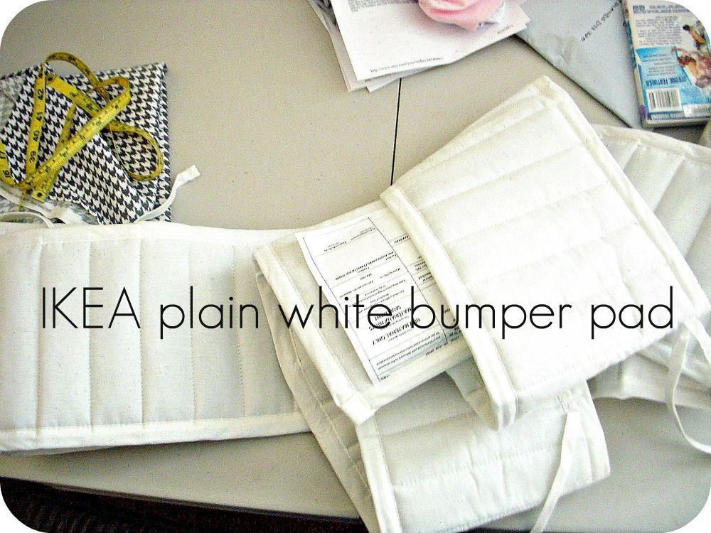 transform plain/cheap  IKEA bummper pads.  Totally customizable!