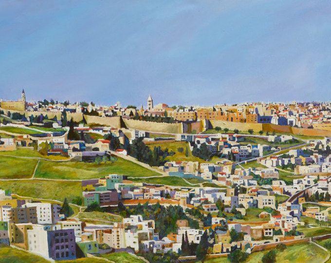 Original painting, Oil paint, Jerusalem art, Huge paintings ...