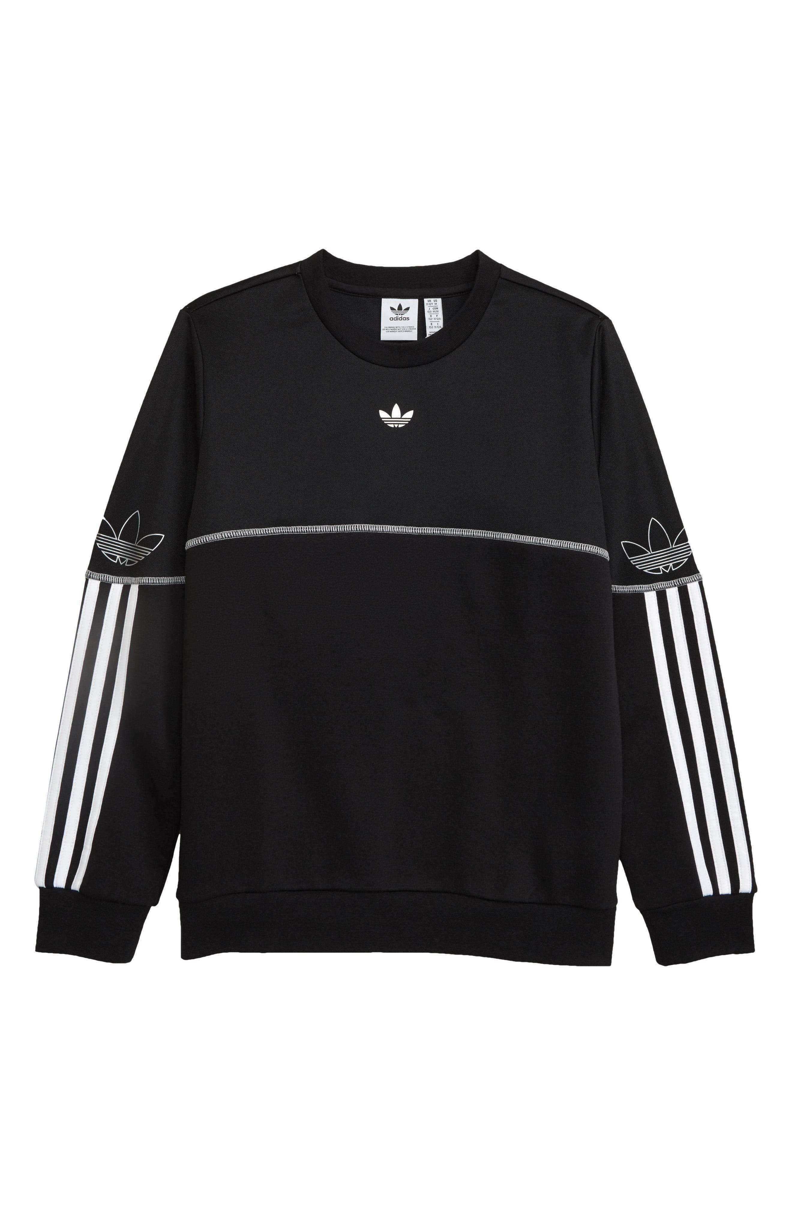 Adidas Originals Outline Crew Neck Pullover Nordstrom Rack In 2021 Crew Neck Sweatshirt Sweatshirts Sweatshirt Designs [ 4048 x 2640 Pixel ]
