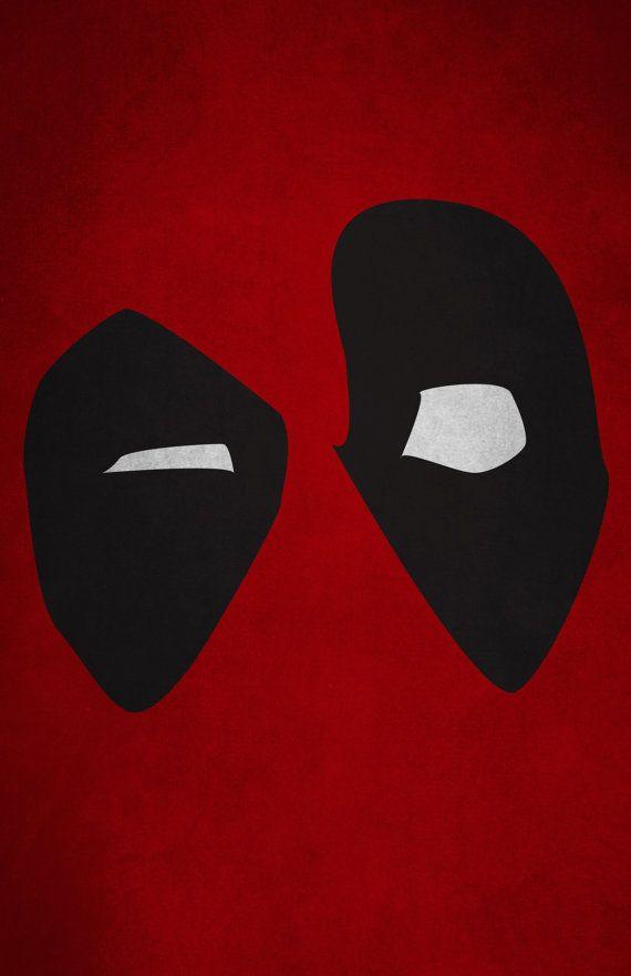 Deadpool Minimalism Print Marvel Comics Marvel Comics Deadpool