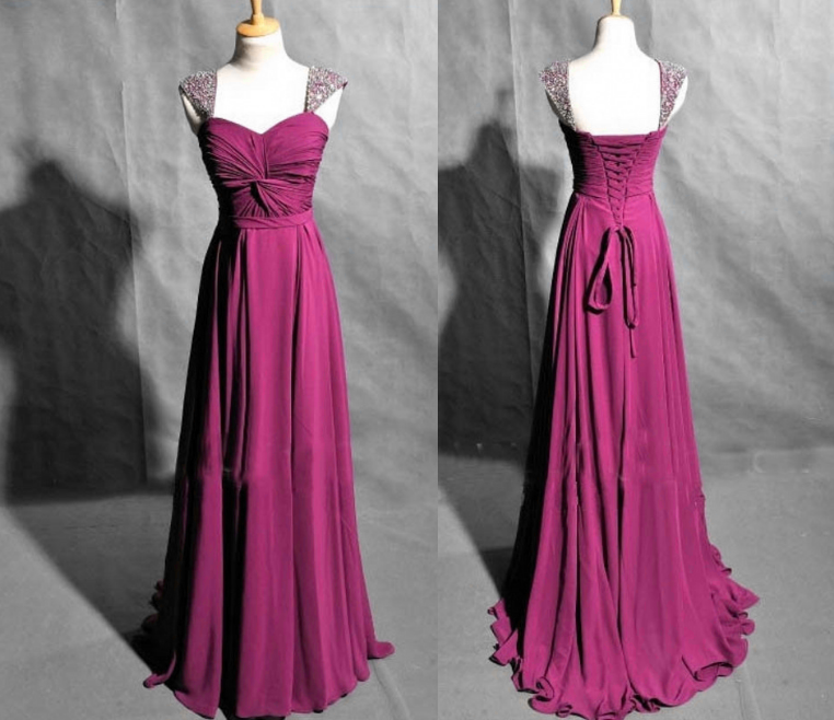 New Design Beading A-Line Prom Dresses,Long Evening Dresses,Prom ...