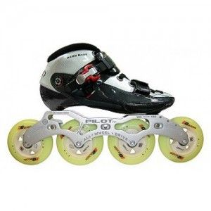Skates For Sale >> Luigino Challenge Inline Speed Skate Black Silver Close Out