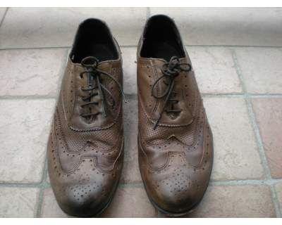 Scarpe uomo stile vintage pelle marrone  5d7029f4bcf