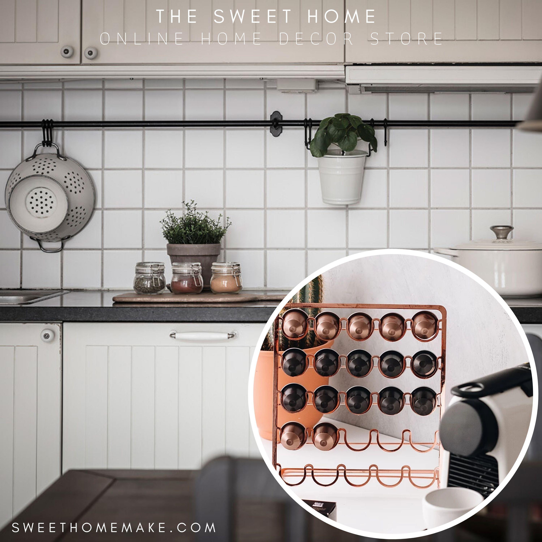 Photo of Nespresso Capsule Holder for Brass and Copper Interior details