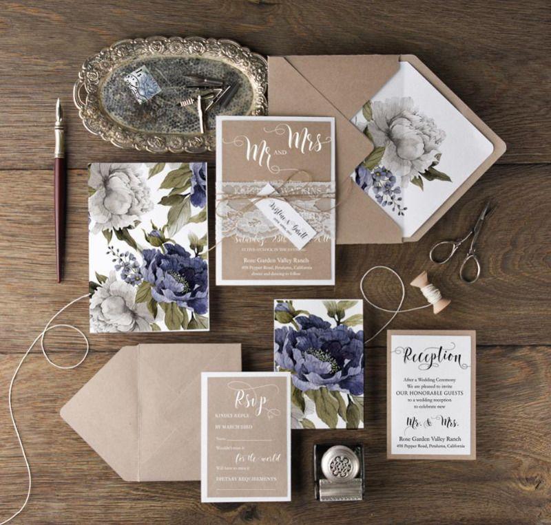 grumpy cat wedding invitations%0A  LovePolkaDots  Botanical wedding invitations