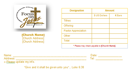 Church Offering Envelope Templates For Your Church Tithing Needs