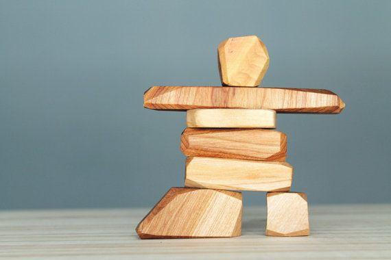 66ee8d108d7d1 Wooden Inukshuk, wooden blocks, stackable toy, Inuit art   To make ...