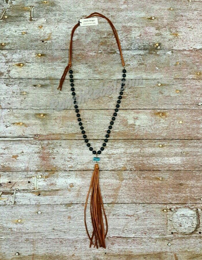 JForks Matte Black Onyx Necklace #13978